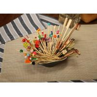 Wholesale Bamboo / Wooden Flat Kebab Skewers , Decorative Cocktail Picks Customized from china suppliers