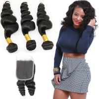 Wholesale Thick 18 Inch Loose Curly Hair Extensions , Raw Indian Loose Curly Hair from china suppliers