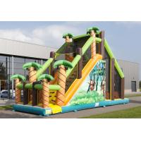 Wholesale Mega Run Kids Inflatable Obstacle Course Games With Climbing Wall from china suppliers