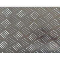 China Easy Processing Aluminum Tread Plate , Coil 5 Bar Chequered Embossed Aluminum Sheet Plate on sale