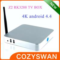 China ARM Cortex-A17 RK3288 Google Android 4.4 TV Box Z2 Quad Core Xbmc 4K 3D Full HD 1080P on sale