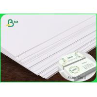 China FSC & ISO High Thickness Ivory Board Paper C1S White Cardboard 1.35MM 1.5MM For Making Name Card for sale