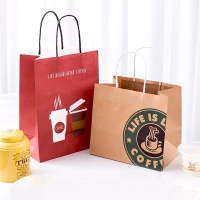 China Promotional Printed Kraft Paper Bags on sale