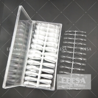 Wholesale 520Pcs Non C Curve Clear French Long Xxxxl Full Cover Straight Tapered Coffin Nail Tips from china suppliers