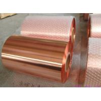 China Red Pure Rolled Annealed Copper Foil Tape High Adhesion Adhesive Meteorology on sale