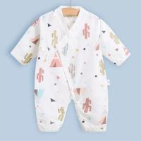 Wholesale Cute Summer Muslin Baby Pajamas Breathable For Babies Short Sleeves Romper from china suppliers