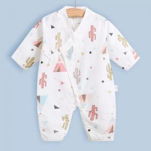 Cute Summer Muslin Baby Pajamas Breathable For Babies Short Sleeves Romper