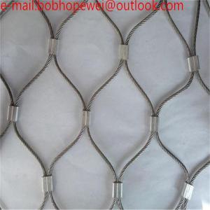 China Anti-theft wire rope bag mesh/Stainless Steel Wire Rope Zoo Mesh/bird aviary zoo chain net stainless steel wire rope mes on sale