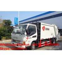 China JAC brand 4*2 5m3 garbage compactor truck, HOT SALE! high quality and cheaper price JAC 4tons compacted garbage truck for sale