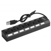 Wholesale 7 Ports Powered USB 2.0 Hub 480Mbps Portable 16.5 * 3.5 * 2.5cm For PC Laptop MAC from china suppliers