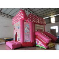 China Pink princess inflatable combo castle lovely inflatable combo house for children commercial inflatable combo for sale