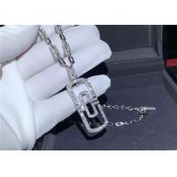 Wholesale Shinning Full Diamond Bulgari Parentesi Necklace In 18K White Gold from china suppliers