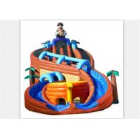 Wholesale Excitin Clown Inflatable Curved Water Slide With Fire Resistant PVC Tarpaulin from china suppliers