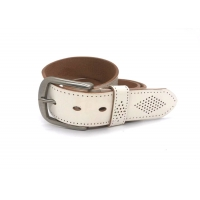 """China White 1-1/2"""" Mens Casual Leather Belt With Logo Custom on sale"""