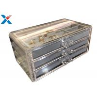 Wholesale Clear Acrylic Makeup Organiser , Acrylic Jewelry Display Box With Velvet from china suppliers
