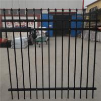 Wholesale Antique brass color wrought iron fence Residential place Fence panels Hot-dipped Galvanized fence fabrication garden fen from china suppliers