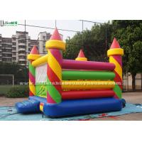 Wholesale Colorful Birthday Party Inflatable Jumping Castles in Candy Shape , Red / Green / Yellow / Blue from china suppliers