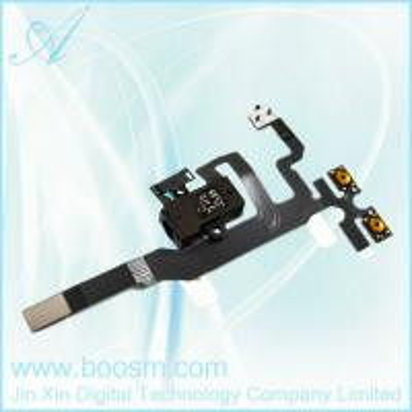 OEM iPhone 4S Headphone Audio Jack Flex Cable Black Replacement Part.jpg