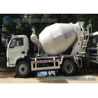 China 4 x 2 Mini Concrete Mixer Pump Truck Manual Control  3 Cubic Meter For ​Powerful Powertrain on sale
