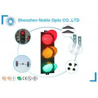 Buy cheap Red Amber Green IP65 Solar Traffic Lights With UV - Stabilized Polycarbonate Housing from wholesalers