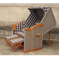 Wholesale Hand-Woven Wooden Roofed Wicker Beach Chair & Strandkorb For Outdoor Pool from china suppliers
