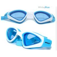 Wholesale Blue Adult Silicone Swimming Goggles with fast adjust strap system from china suppliers