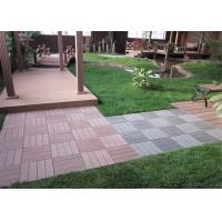 Wholesale Anti - Slipping Interlocking Wood plastic Composite Deck Tiles Outdoor 300 * 300mm from china suppliers