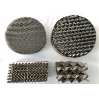 China High Capacity Metal Tower Packing Corrugation Surface Corrosion Resistance on sale