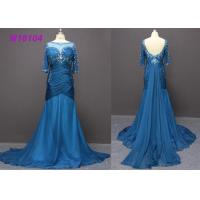 Wholesale Fashion Navy Blue Mother Of The Bride Dresses , Bead Mermaid Mother Of The Bride Dresses from china suppliers