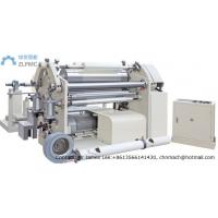 Surface Touch Center Plastic Film Winding Machine , Paper Roll Slitter Rewinder