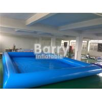 Wholesale Durable Blue Kids Square Inflatable Swimming Pool With Inflatable Water Toys from china suppliers