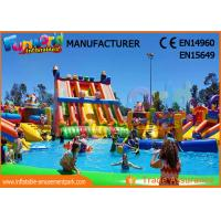 China Water Inflatable Game Water Park Inflatable Water Park Slide With Pool on sale