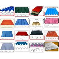 Color Steel Roof Panel Roll Forming Machine 18 Units Roll Forming Stations Use