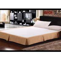 Buy cheap Earthy Yellow Decorative Hotel Bed Skirts With 100% Polyester Queen Size from wholesalers