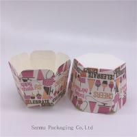 Wholesale Personalized Printed Cupcake Wrappers , Greaseproof Square Cupcake Baking Cups Bakery Set from china suppliers