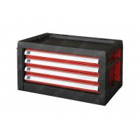 Steel Multifunctional Tool Box Top Cabinet , Red Black Metal Tool Chest With Drawers for sale