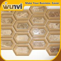 Quality Wall Glass And Stone Mosaic Tile 345X245mm , natural stone mosaic tiles for sale