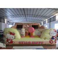 China Hello Kitty Inflatable Jump House Double Stitching 5 X 4.5 X 2.4m For Amusement Park for sale