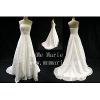 Wholesale Madehand Flower Strapless backless Wedding Dress Bridal Gown with Eipper BYB-14596 from china suppliers
