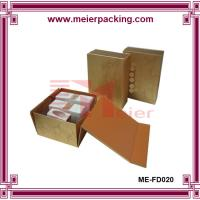Wholesale Custom Paper Flat Folding Gift Boxes For Cosmetic, Recyclable Golden Paper Box ME-FD020 from china suppliers