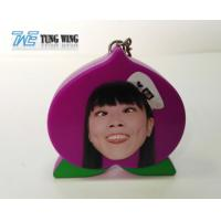 Quality Cute Purple Peach Shaped Musical Keyring , Custom Talking Keychain for sale