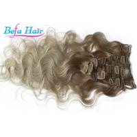 Wholesale Brazilian Body Wave Remy Clip In Hair Weave Colored Ombre Hair Extensions from china suppliers