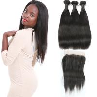 Wholesale Tight Weft 360 Degree Frontal Closure 3 Bundles Natural Looking No Tangling from china suppliers
