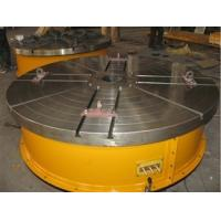 Wholesale Flange Plate Floor Turning Table Stepless Frequency Adjustment Welding Rotary Table With Round Table Standing 15 Tons from china suppliers