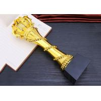 Wholesale Elegant And Luxury Designed Resin Trophy , Gold Plated Glorious Souvenir from china suppliers
