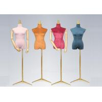 Wholesale Female Colorful Flannelette Decorative Shop Display Mannequin With Golden Metal Stand from china suppliers