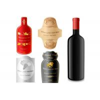 Wholesale PVC Waterproof Roll Custom Label Stickers / Wine Bottle Labels  Embossing from china suppliers
