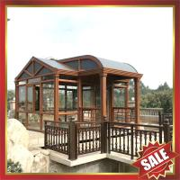 Buy cheap excellent beautiful prefabricated solar garden park metal aluminum alloy glass sun house sunroom enclosure cabin cabinet from wholesalers