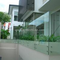 Wholesale Customized Glass Decking Standoff Railing with Stainless Steel Handrail from china suppliers