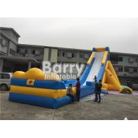 Wholesale 3 Years Life Span Yellow Giant Inflatable Slip And Slide For Kids / Adults from china suppliers